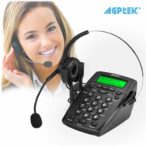 Arise Virtual Solutions phone and headset AGPtek Call Center Dialpad Headset Telephone with Tone Dial Key Pad & REDIAL